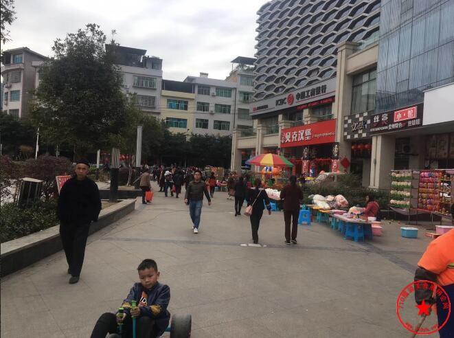 罗甸县明珠中央广场实拍