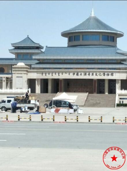 左旗大漠奇石博物馆广场实拍