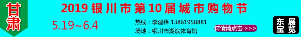 2019银川市第10届城市购物节条幅
